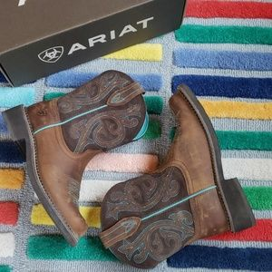 Ariat Fatbaby Heritage Cowboy Boots 8.5 Teal